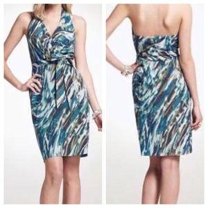 ANN TAYLOR NWT Silk Halter Dress With Sash Belt 8